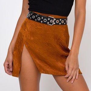 Motel satin mini skirt
